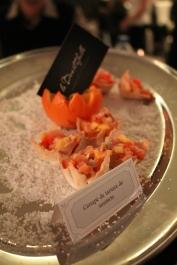Canapé de tartare de saumon