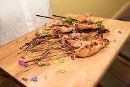 Mini brochette de poulet satay