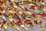 Bruschetta de courgettes sur pain pita