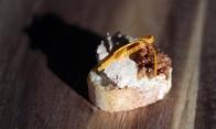 Mousse de foie gras, marmelade et vinaigre de bacon
